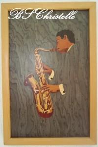 un saxophoniste dans Tableaux de marqueterie sans-titre-24-200x300